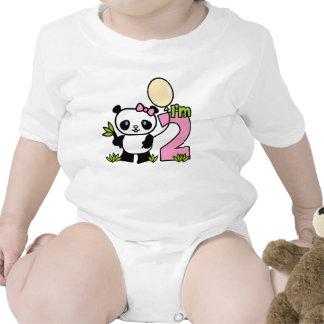 Panda Girl 2nd Birthday Bodysuits