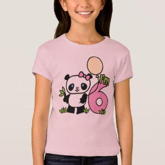 Panda Girl 6th Birthday T-Shirt