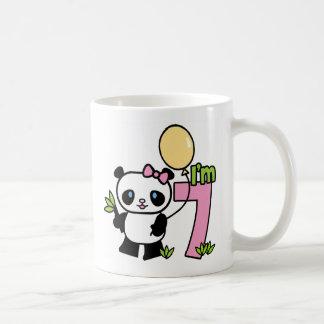 Panda Girl 7th Birthday Coffee Mug