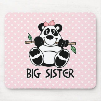 Panda Girl Big Sister Mouse Pad
