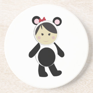 Panda Girl Drink Coaster