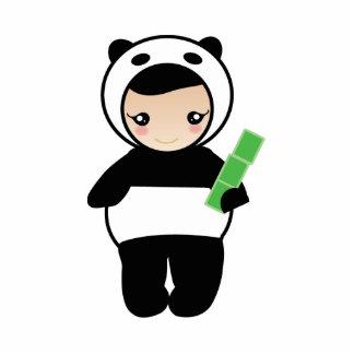Panda girl cutout