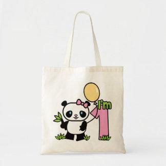 Panda Girl First Birthday Tote Bag