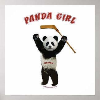 Panda Girl Hockey Bear Poster