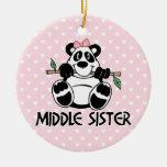 Panda Girl Middle Sister Christmas Tree Ornament