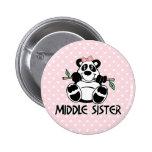 Panda Girl Middle Sister Pins