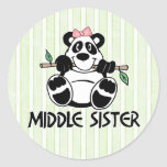 Panda Girl Middle Sister Stickers