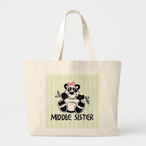 Panda Girl Middle Sister Tote Bag