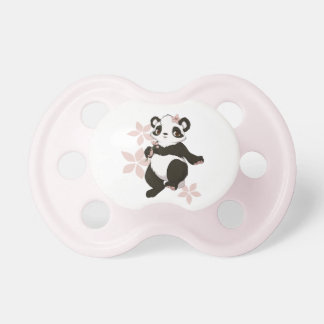 Panda girl with flowers pacifier