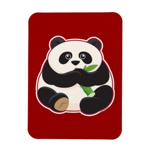 Panda gorda imán rectangular