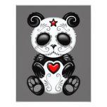 Panda gris del azúcar del zombi invitación 10,8 x 13,9 cm