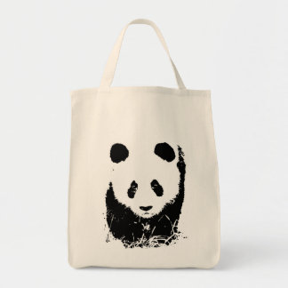 Panda Grocery Tote Canvas Bag