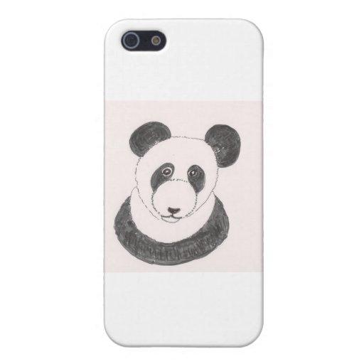 Panda gruñona iPhone 5 carcasa