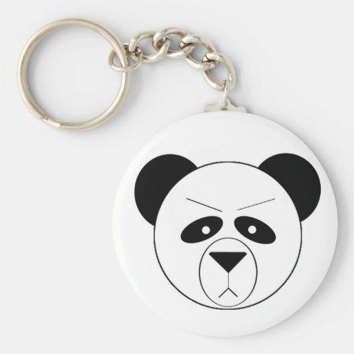 Panda gruñona llavero redondo tipo pin