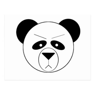 Panda gruñona postal