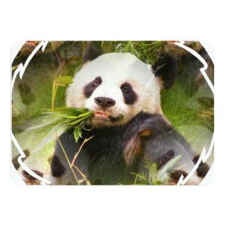 Panda Habitat 5x7 Paper Invitation Card