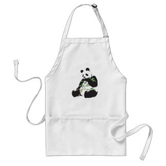 Panda hambrienta delantales