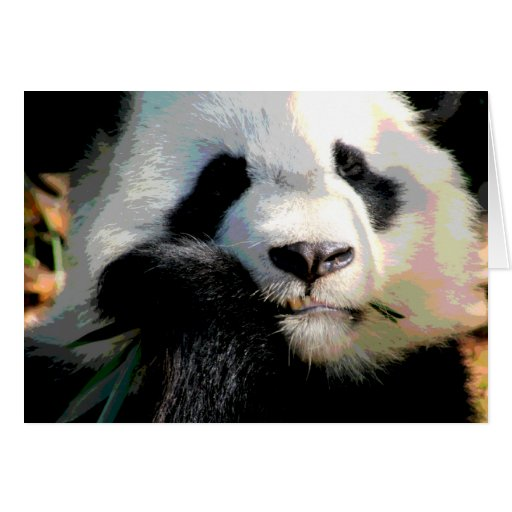 Panda hambrienta tarjeta de felicitación