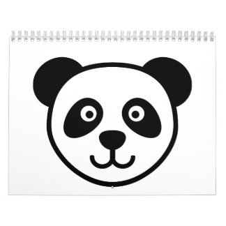 Panda head calendar