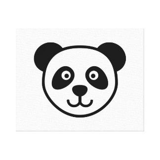 Panda head canvas print