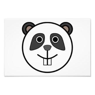 Panda head cartoon photo