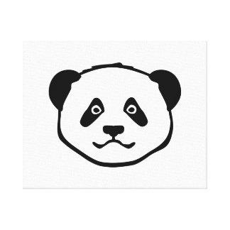 Panda head face canvas print