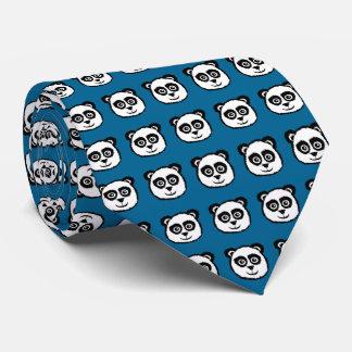 Panda Head Pattern Neck Tie