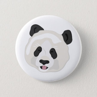 Panda Head Pinback Button