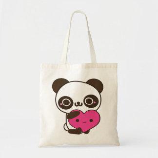 Panda Heart Tote Bags