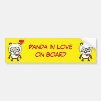 Panda, heart balloon, feeling crazy in love bumper sticker
