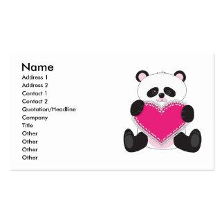 Panda Heart Business Card Template