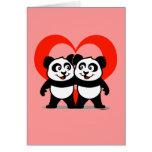 Panda Heart Card