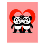 Panda Heart Postcard