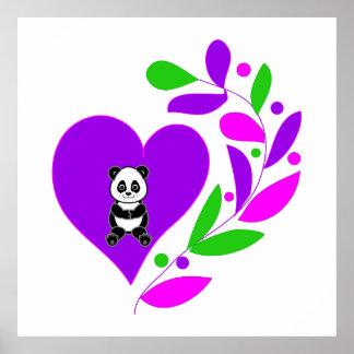Panda Heart Posters