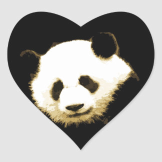 Panda Heart Sticker