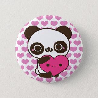 Panda Hearts Pinback Button