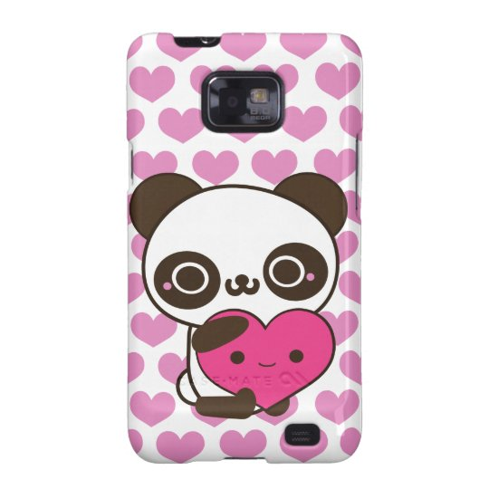 Panda Hearts Samsung Galaxy SII Cover