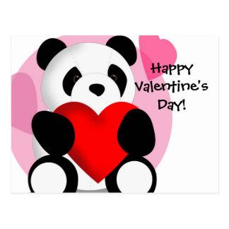 Panda Hearts Valentine's Postcard
