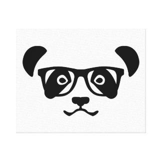 Panda hipster nerd canvas print