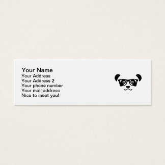 Panda hipster nerd mini business card