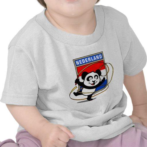 Panda holandesa de la gimnasia rítmica camiseta