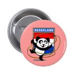 Panda holandesa de la gimnasia rítmica pins