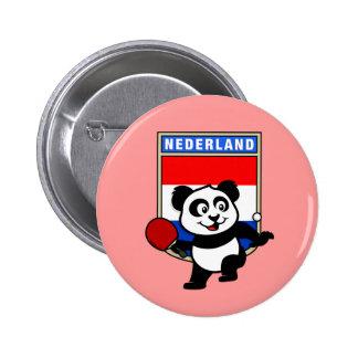 Panda holandesa de los tenis de mesa pin