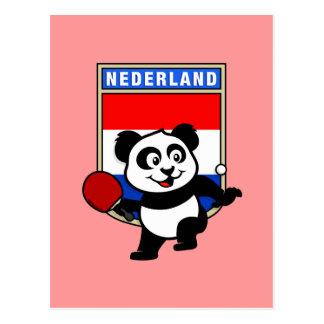 Panda holandesa de los tenis de mesa tarjetas postales