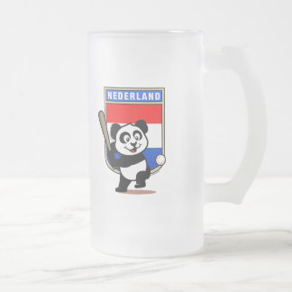 Panda holandesa del béisbol taza de cristal