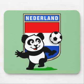 Panda holandesa del fútbol mouse pads