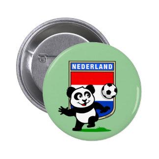Panda holandesa del fútbol pins