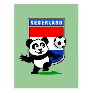 Panda holandesa del fútbol postal