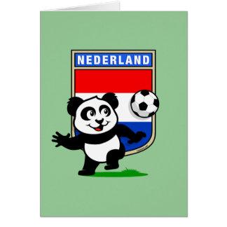 Panda holandesa del fútbol tarjeta de felicitación