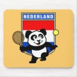 Panda holandesa del tenis alfombrillas de raton